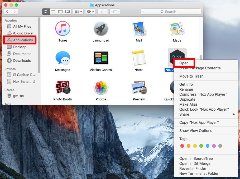 Impossible d'ouvrir NoxPlayer sur Mac - étape 2