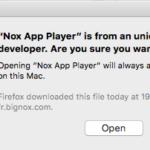 Impossible d'ouvrir NoxPlayer sur Mac - étape 3